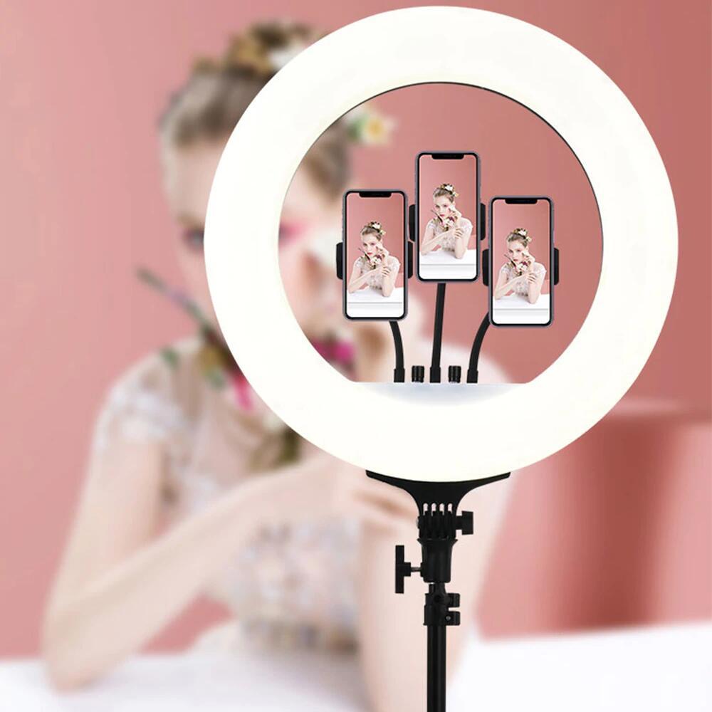 RGB Luz de anillo de luz autofoto con trípode