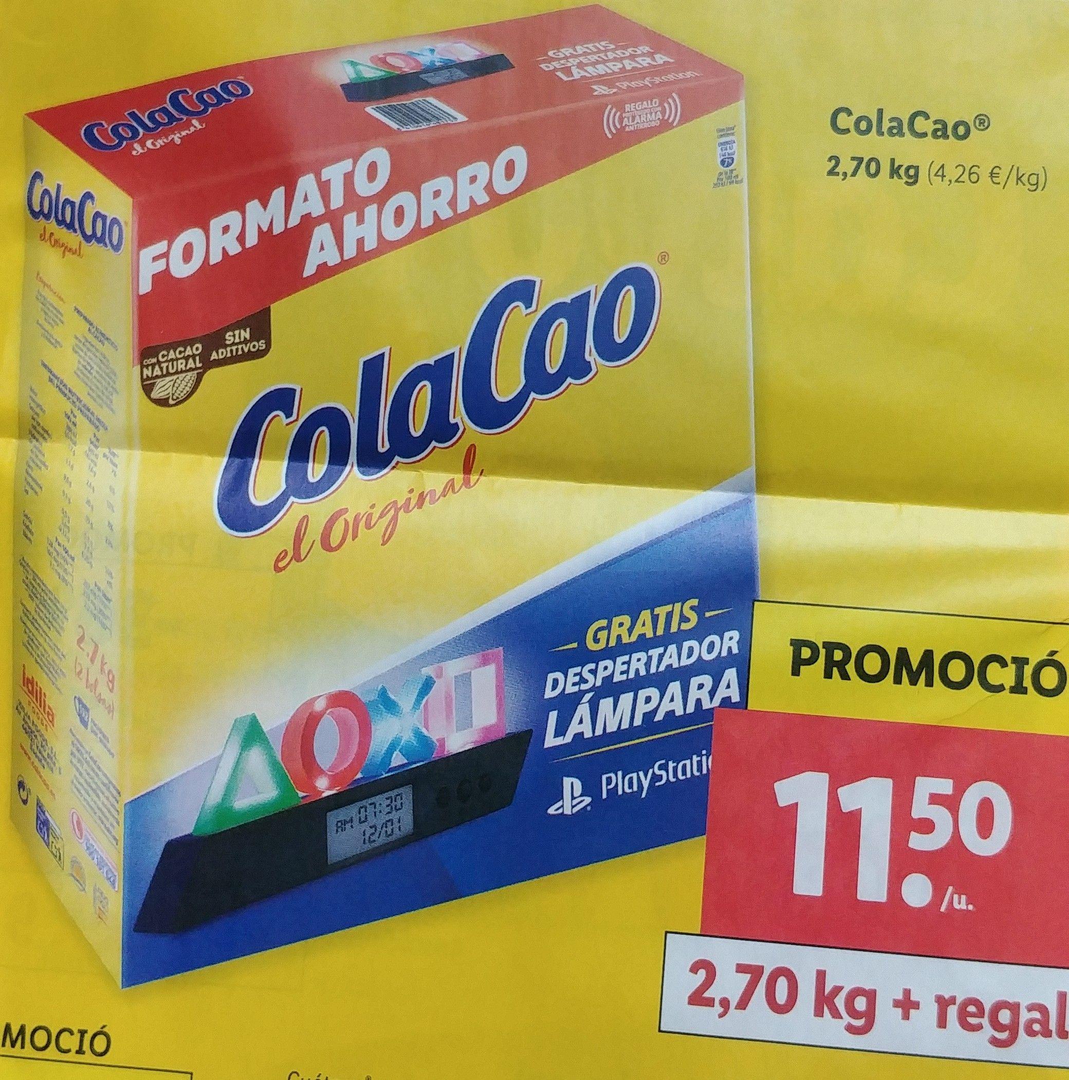ColaCao + despertador/lampara PlayStation, a 11,5e en el Lidl