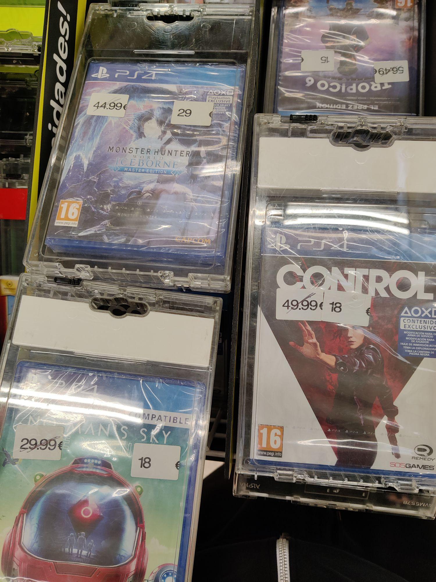 Varios chollos en videojuegos Carrefour Alfafar Vlc