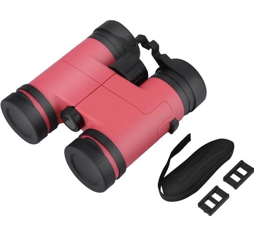 Binoculares para niñ@s de Observación de Aves de Alta Potencia 8X30(rosa)