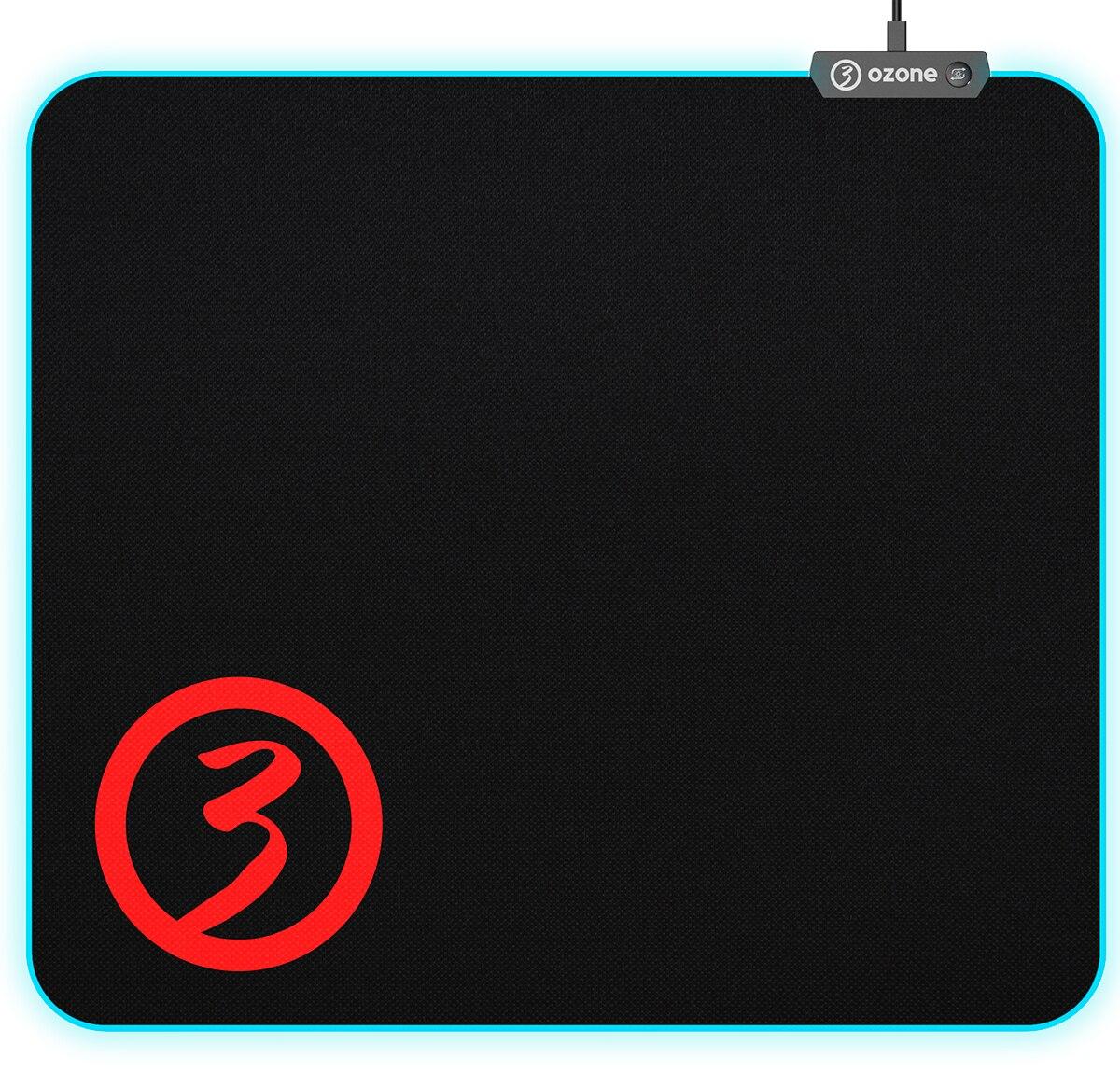 Alfombrilla PC gaming OZONE Level Pro Spectra - RGB, Controlador de Efectos + 3 modos
