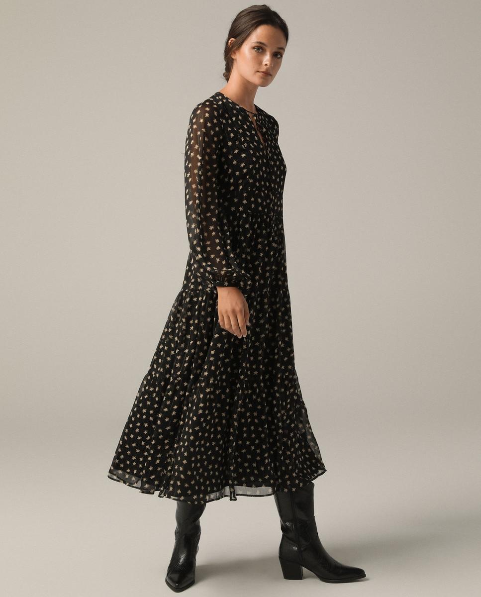 Vestido largo con lurex, Tintoreto