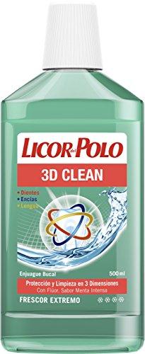 Licor del Polo - Enjuague Bucal 3D Clean - 12 uds de 500ml