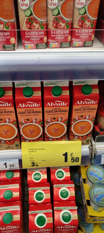 Gazpacho Alvalle Suave sin pepino