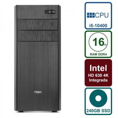 Pc Trabajo Intel i5-10400 6 Nucleos / 240GB SSD / 16GB DDR4 / HDMI / USB3.1