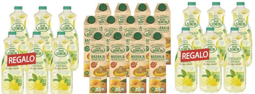 12 litros de zumo de naranja + 18 litros de limonada por 17€ (30 litros en total) (Leed descripción)