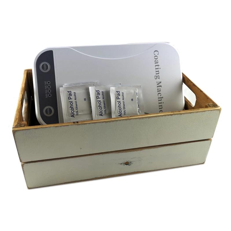 Kit Esterilizador de móvil + toallitas desinfectantes + Caja Vintage – Luz Ultravioleta – 22,5 x 12.5 x 4.2 cm