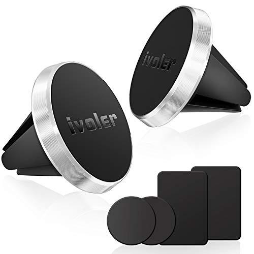 ivoler 2 Pack Soporte Magnético Móvil Coche 360°Rotación