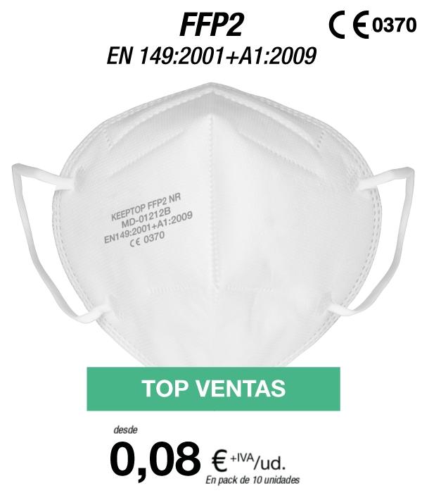 10 Mascarillas FFP2 por 1 euro (limitado a 1 unidad, luego 5.95€) + MINI-RECO de la misma web