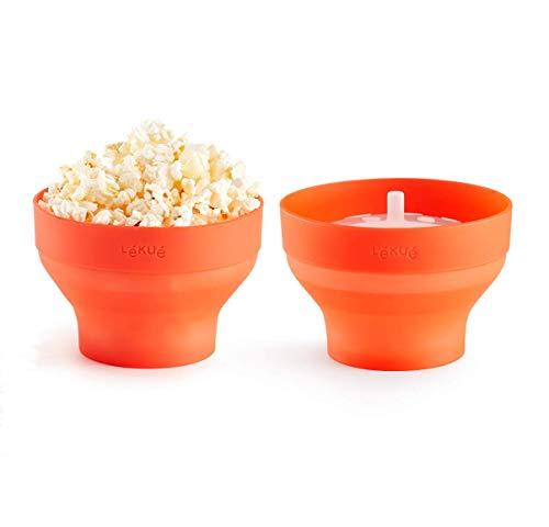 Lékué Set 2 Mini Pop Corn para Preparar Palomitas en microondas