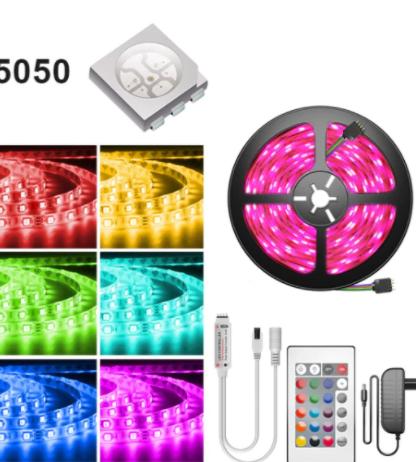 Tira Led RGB 5050 full pack.