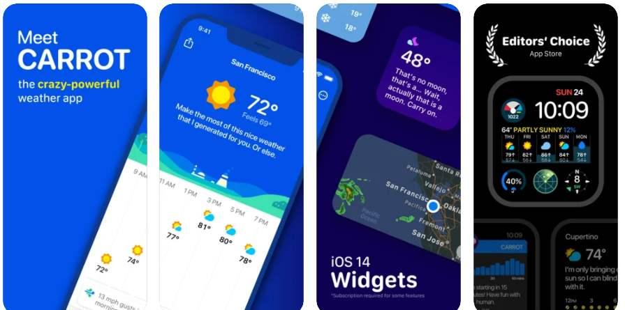 CARROT Weather, AirDisk Pro, Cinemagraph Editor y otras Apps GRATIS para IOS