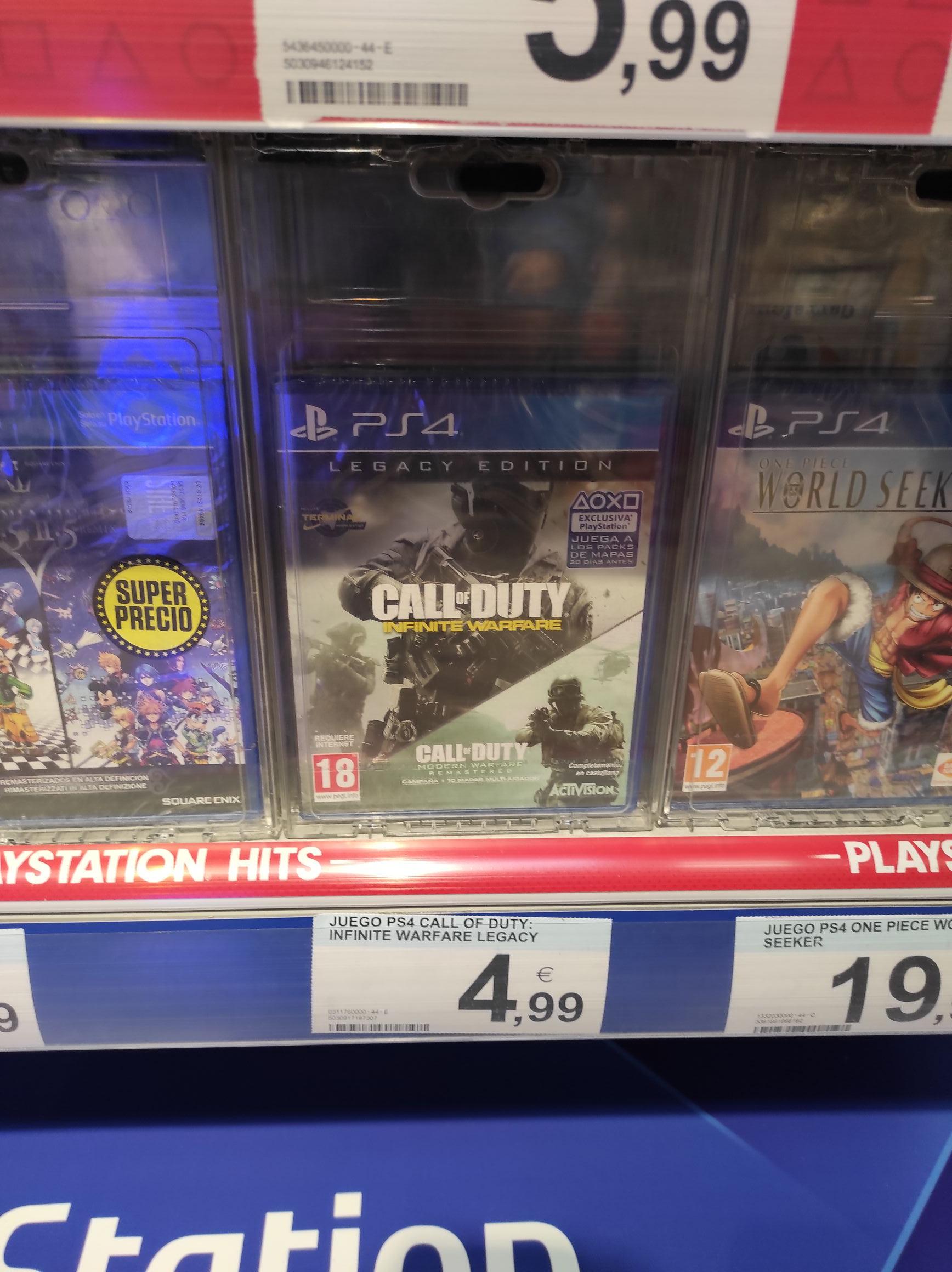 Varios juegos con buen precio en carrefour tarragona