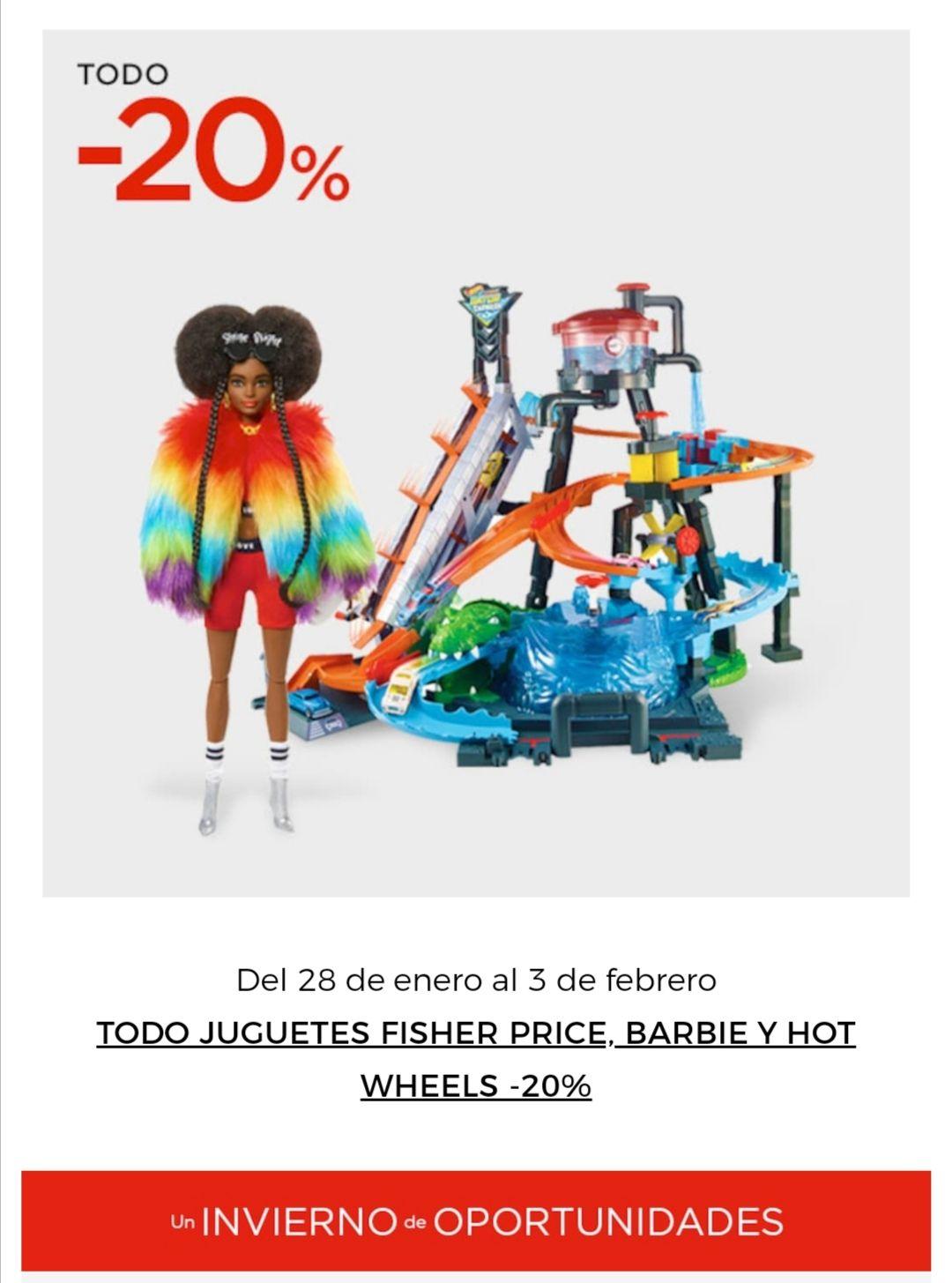 20% de dto en juguetes en elcorteinglés