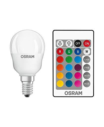 OSRAM, pack 4xbombilla e14 LED colores RGBW con mando