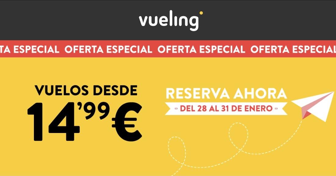 Vuelos a 14,99€ Vueling