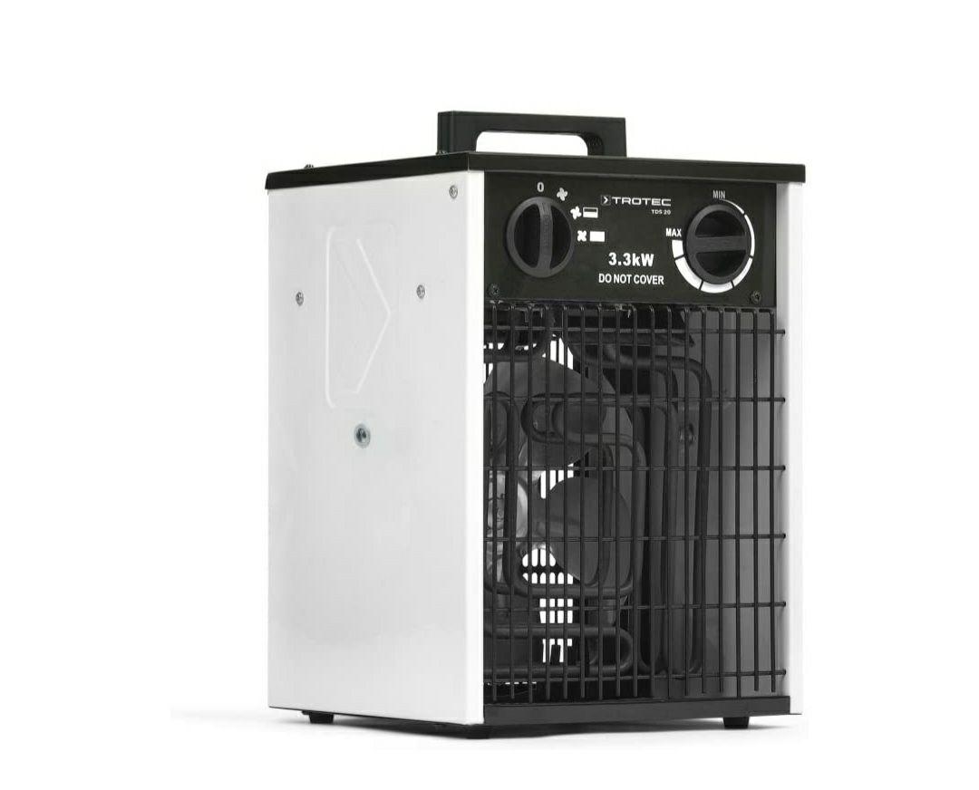 TROTEC Calefactor eléctrico TDS 20 tiene 3 estapas, entre 1,65 kW hasta 3,3 kW