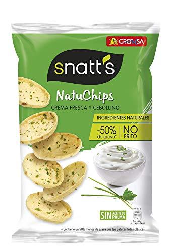 NatuChips Crema Fresca y Cebollino - 85 gr (0,95€ compra recurrente)