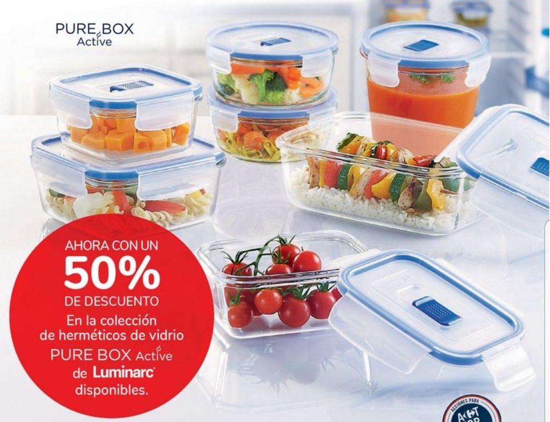 Todos los recipientes herméticos de cristal LUMINARC PURE BOX ACTIVE al 50% (desde 2,50€)