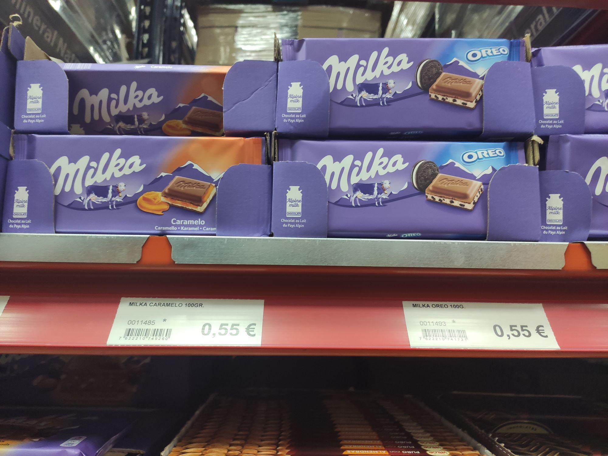 Chocolate Milka de sabores en tienda Rodal Cash