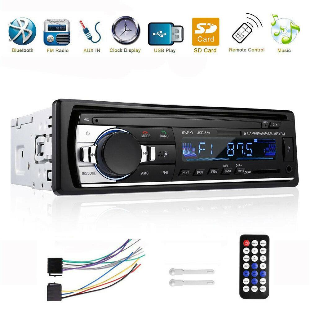 Autoradio radio de coche MP3 bluetooth manos libres car USB TF AUX 1 DIN
