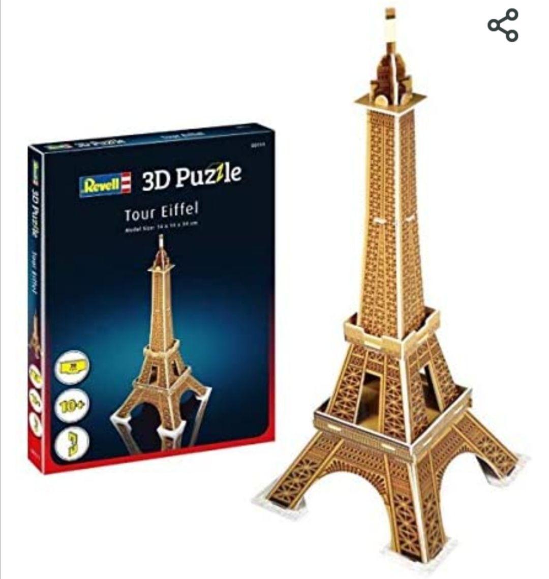 Revell- Torre Eiffel 3D Puzzle, (puzzle varios estatua libertad, titanic..)