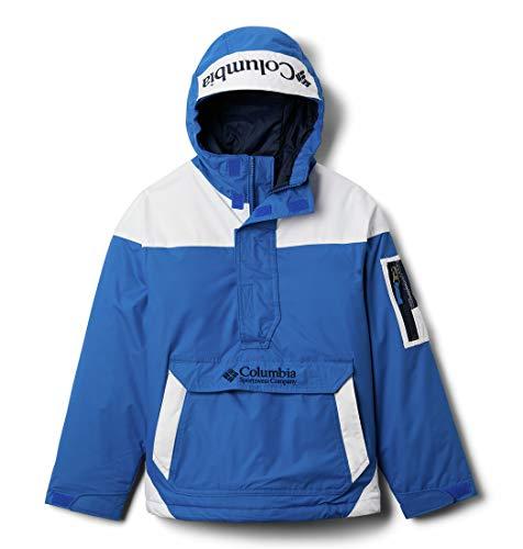 Columbia Challenger Chaqueta Sudadera, Unisex niñ@s, Azul, Blanco (Bright Indigo, White, Coll Navy), XL