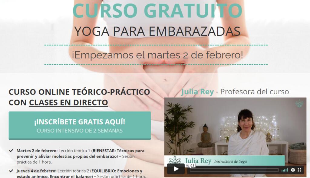 (GRATIS) Curso online de yoga para embarazadas
