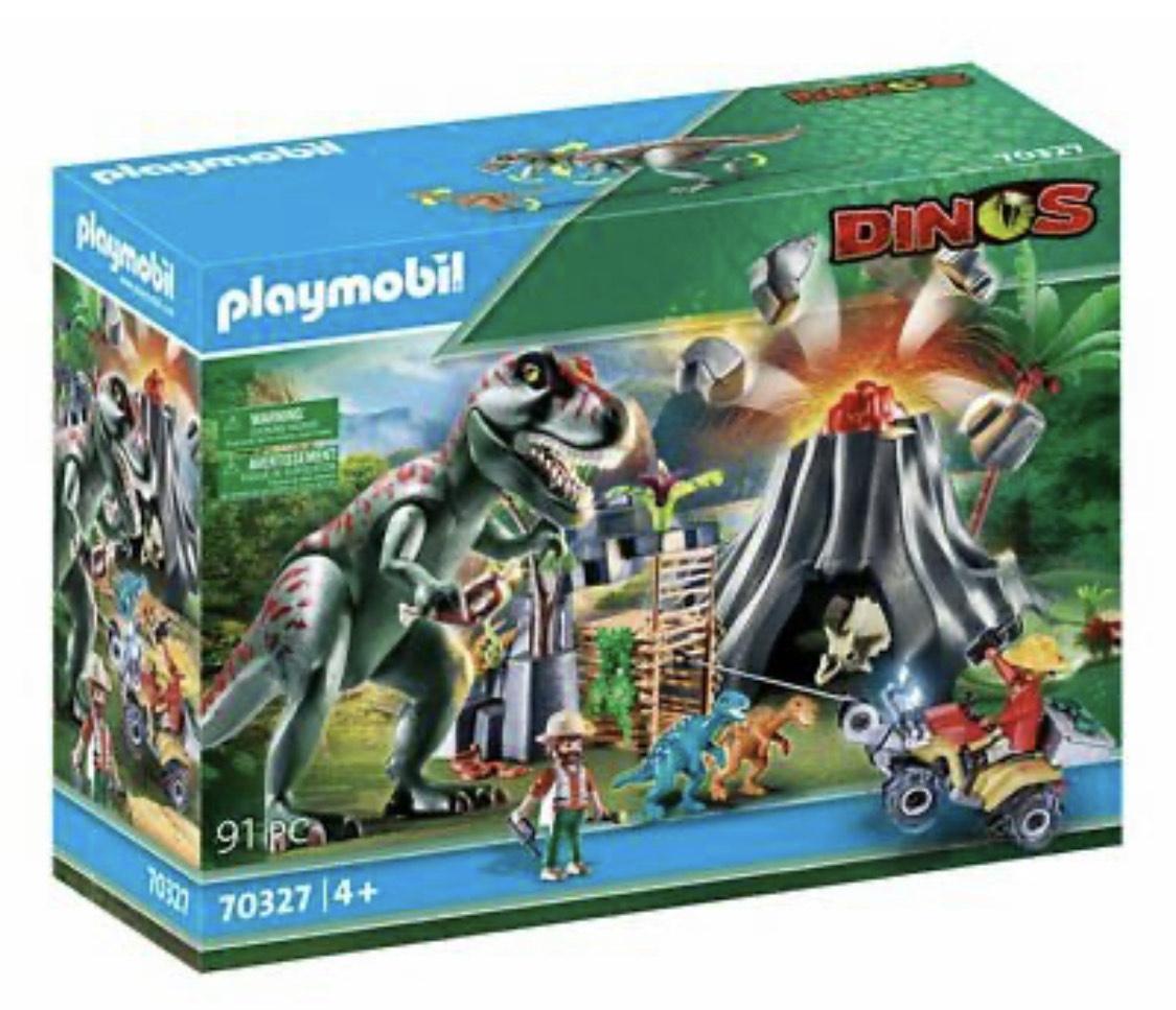 Playmobil Dinos 70327 Isla Volcánico Con T-Rex