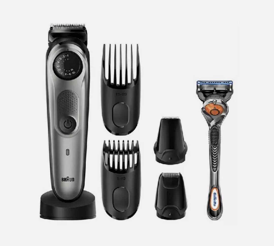 Barbero - Braun BT7940, Autonomía 1h, 39 Longitudes, Lavable, Inox