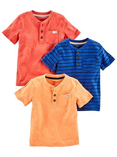Simple Joys by Carter's camisetas manga corta para niño pack 3 unidades