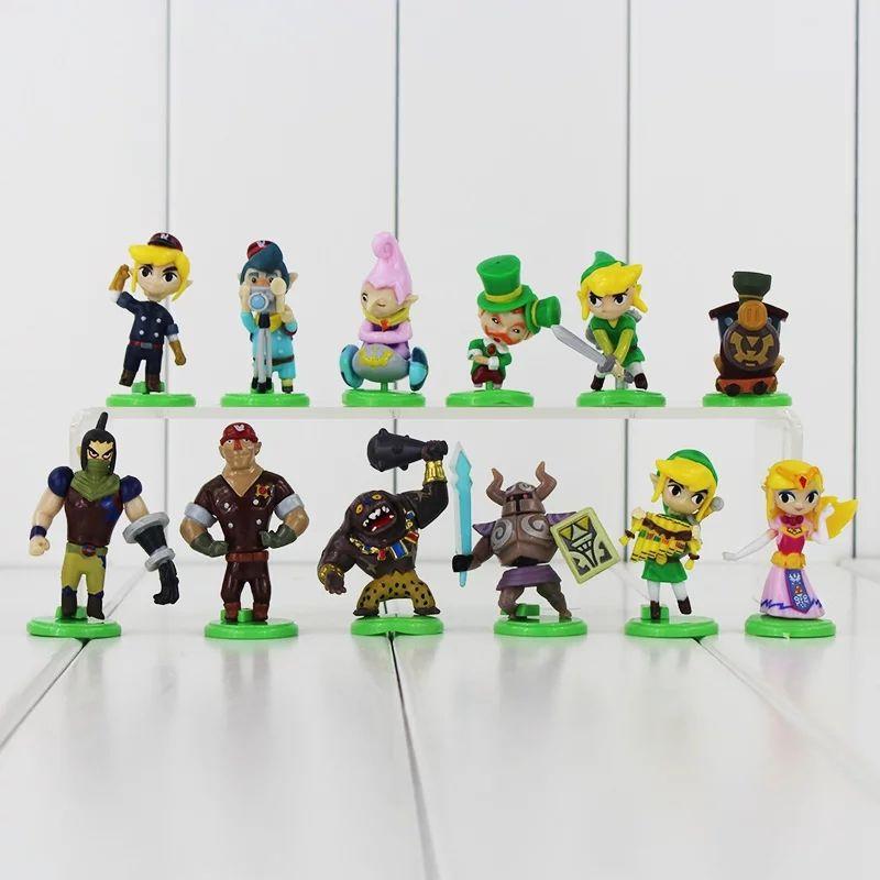 Lote de 12 figuras de Zelda tamaño 4-6 cm