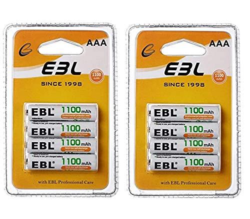 8 Pilas AAA recargables 1100mAh x 9.99€