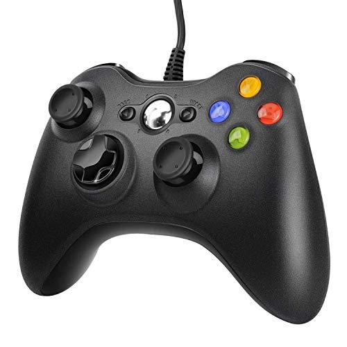 JAMSWALL Xbox 360 Mando de Gamepad, Controlador Mando USB de Xbox 360 y PC Windows XP/7/8/10 con Vibración