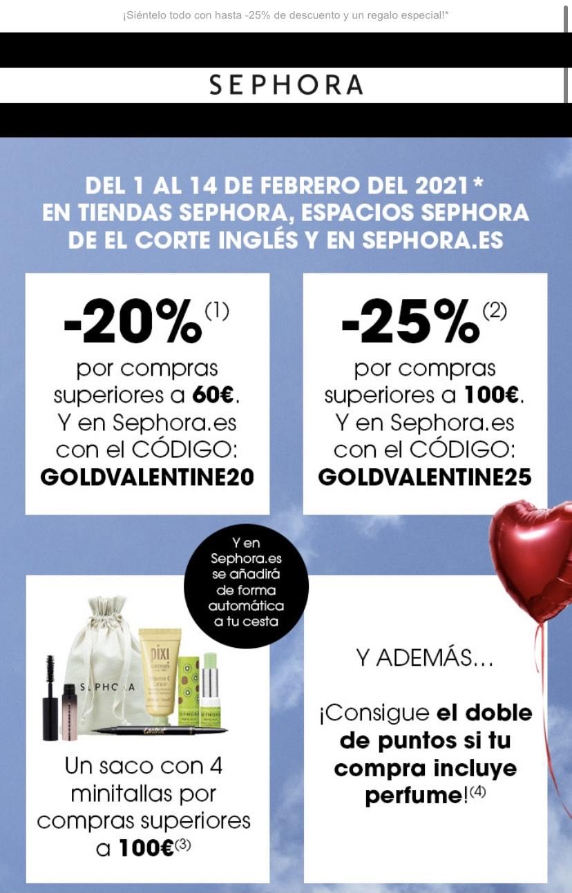Hasta -25% en maquillaje y tratamiento, un regalo y dobles puntos en compras con perfume para clientes Black y Gold.