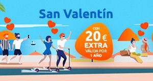 20€ gratis comprando una tarjeta regalo para San Valentín