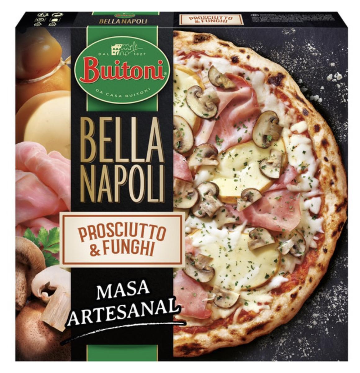 Pizzas Buitoni Bella Napoli masa artesanal a 2,32 € ud. ( 6 unidades) (disponible en tienda física)