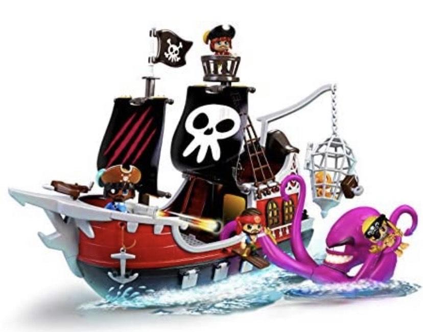 Pinypon Action- Barco Pirata Ataque al Kraken