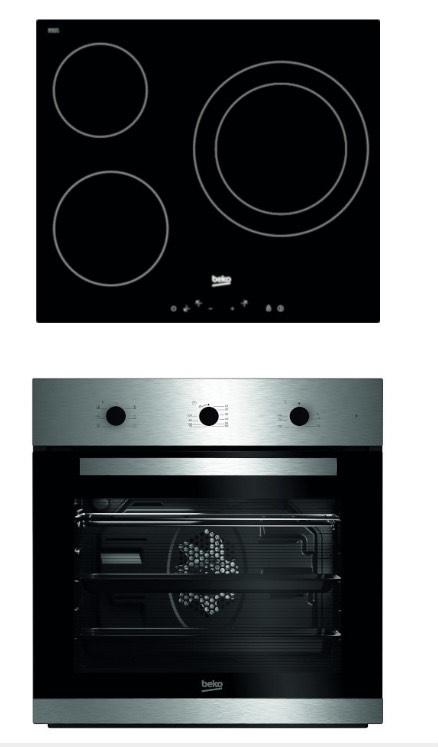 Conjunto de placa de vitrocerámica y horno
