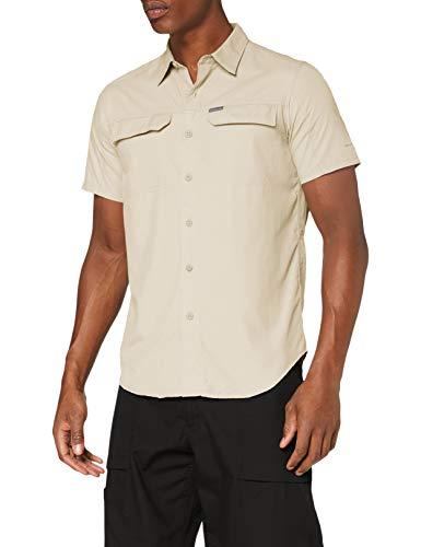Columbia Camisa de Manga corta, Silver Ridge 2.0 para Hombre, Beige (Fossil), talla S (demás tallas 33,39)