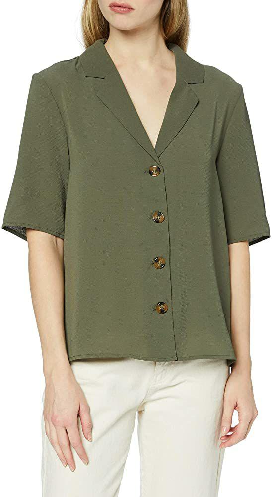TALLA 42 - Only Onlwinner Button Shirt Wvn Camiseta para Mujer