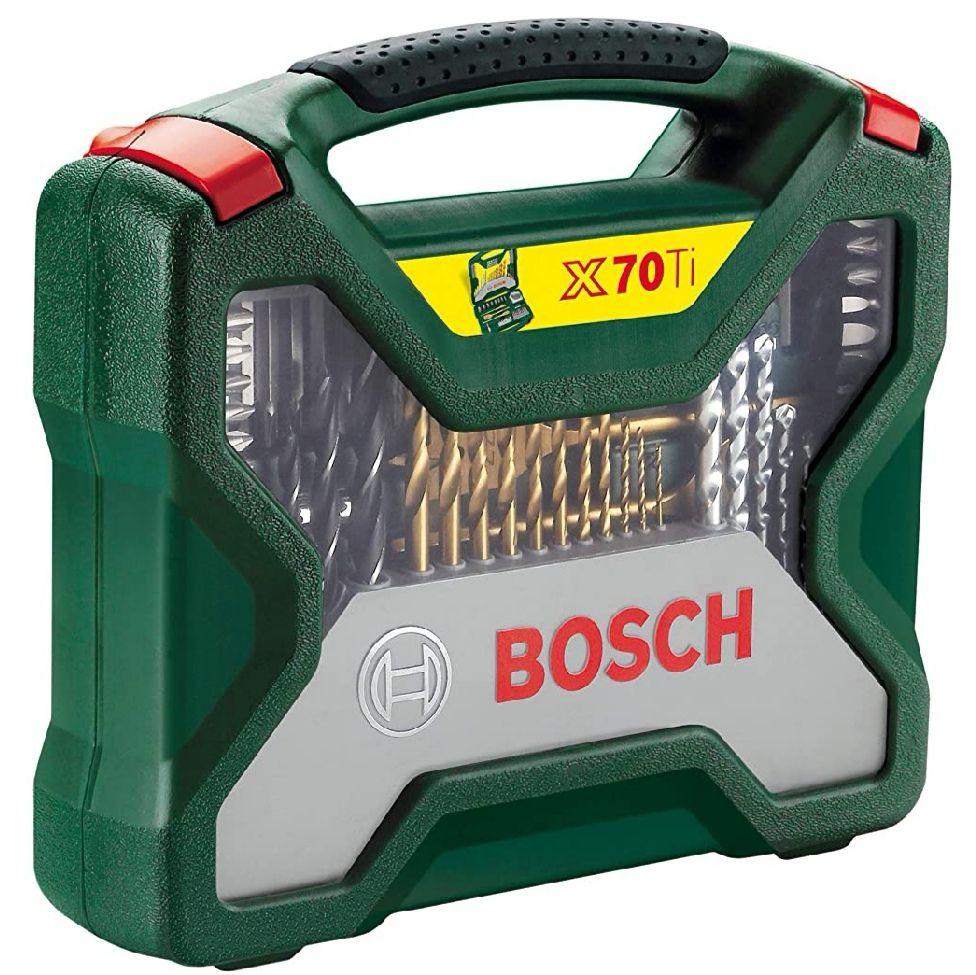 Bosch X-Line Titanio - Maletín de 70 unidades para taladrar y atornillar
