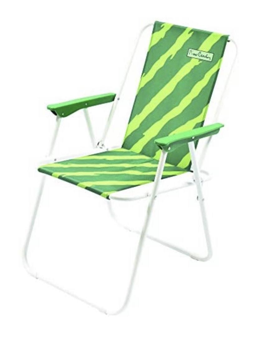 Pierre Cardin, verde, línea Haiti, playa plegable Aries, mar Jradino, 53 x 43 x 75 cm