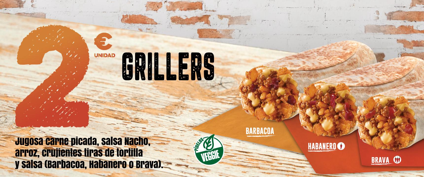 Grillers en Taco Bell por solo 2€