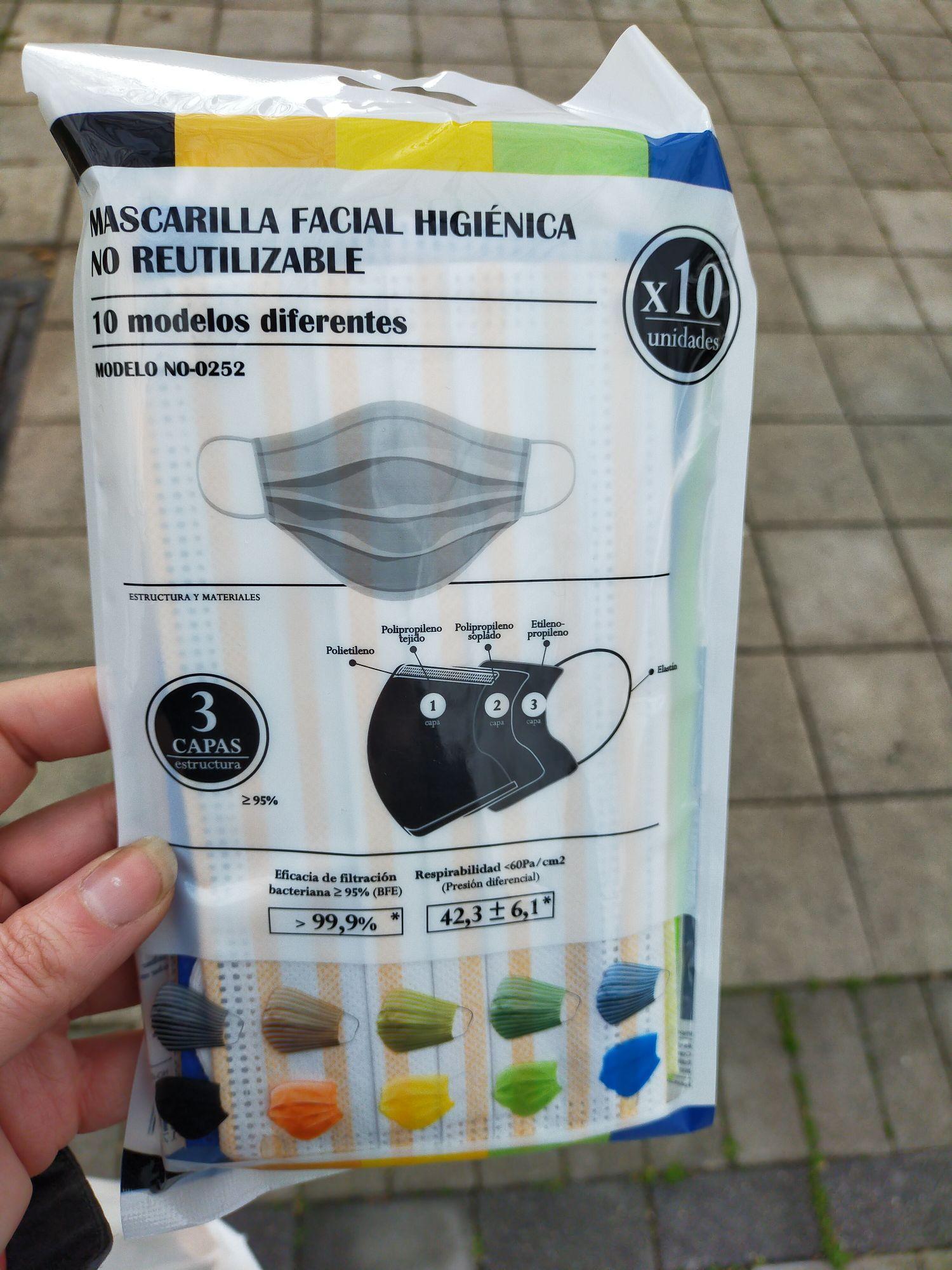 Mascarillas higiénicas decoradas pack de 10