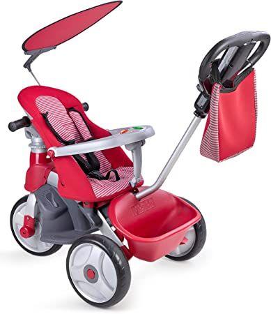 Mínimo!FEBER- Baby Trike Easy Evolution, Triciclo, Color Rojo