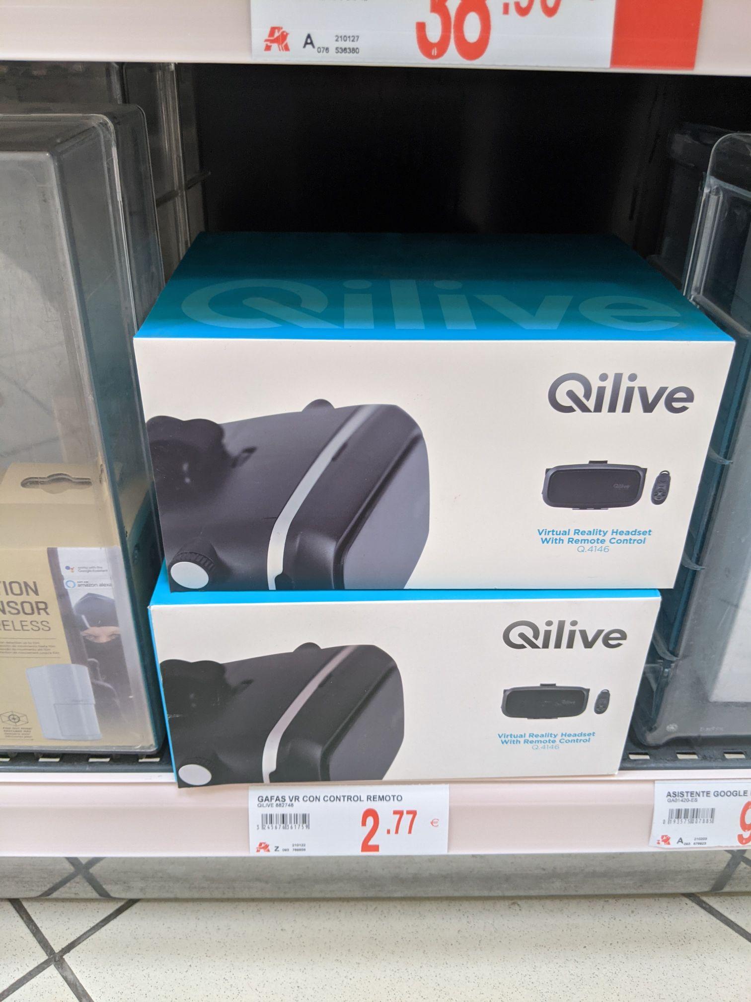 Gafas VR Qilive + mando bluetooth en Alcampo Aldaia