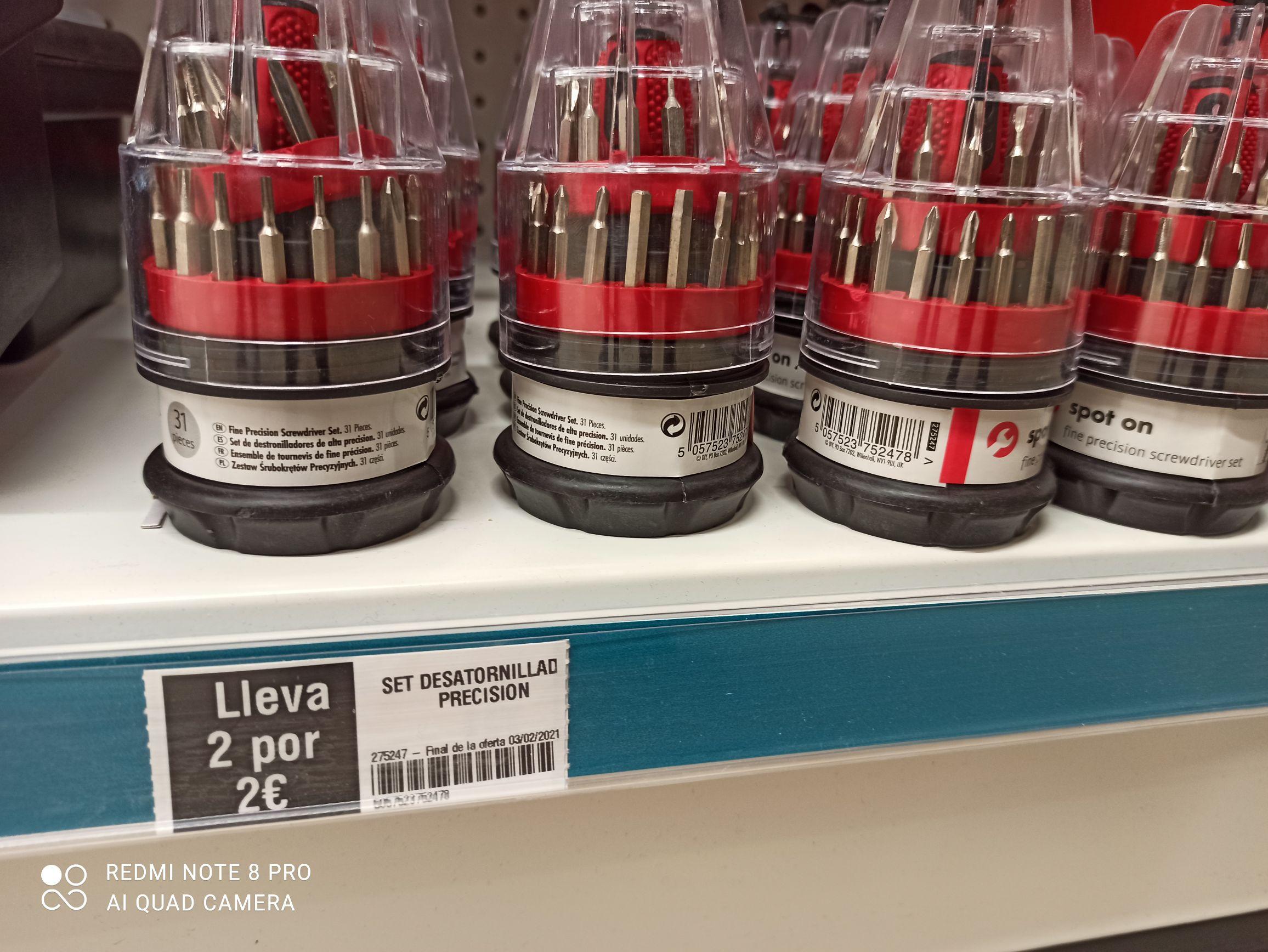Destornillador de precision 2x2 Euros en tiendas Dealz