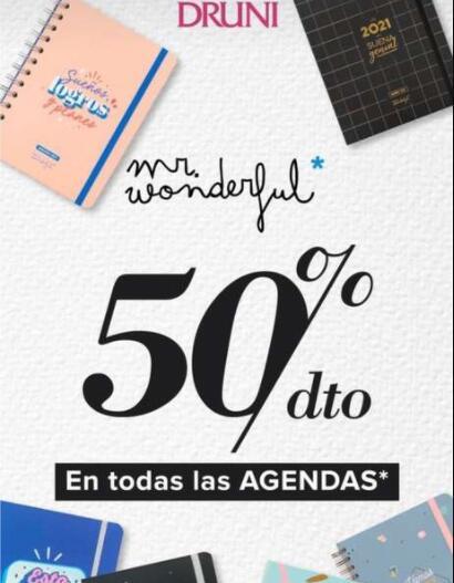 Agendas Mr wonderful - 50% en Druni