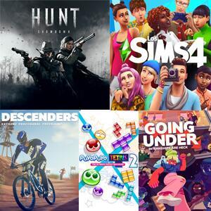 Juega GRATIS Hunt: Showdown, The Sims 4, Puyo Tetris 2, Going Under y Descenders #XBOX